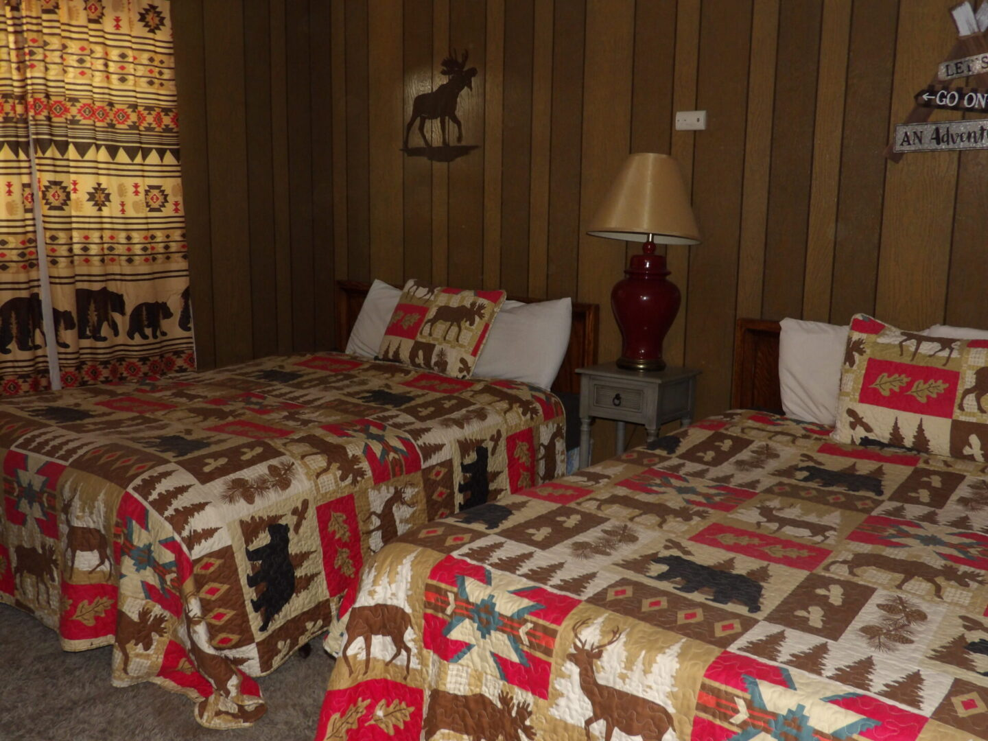 bedrooms with woodland furnishings