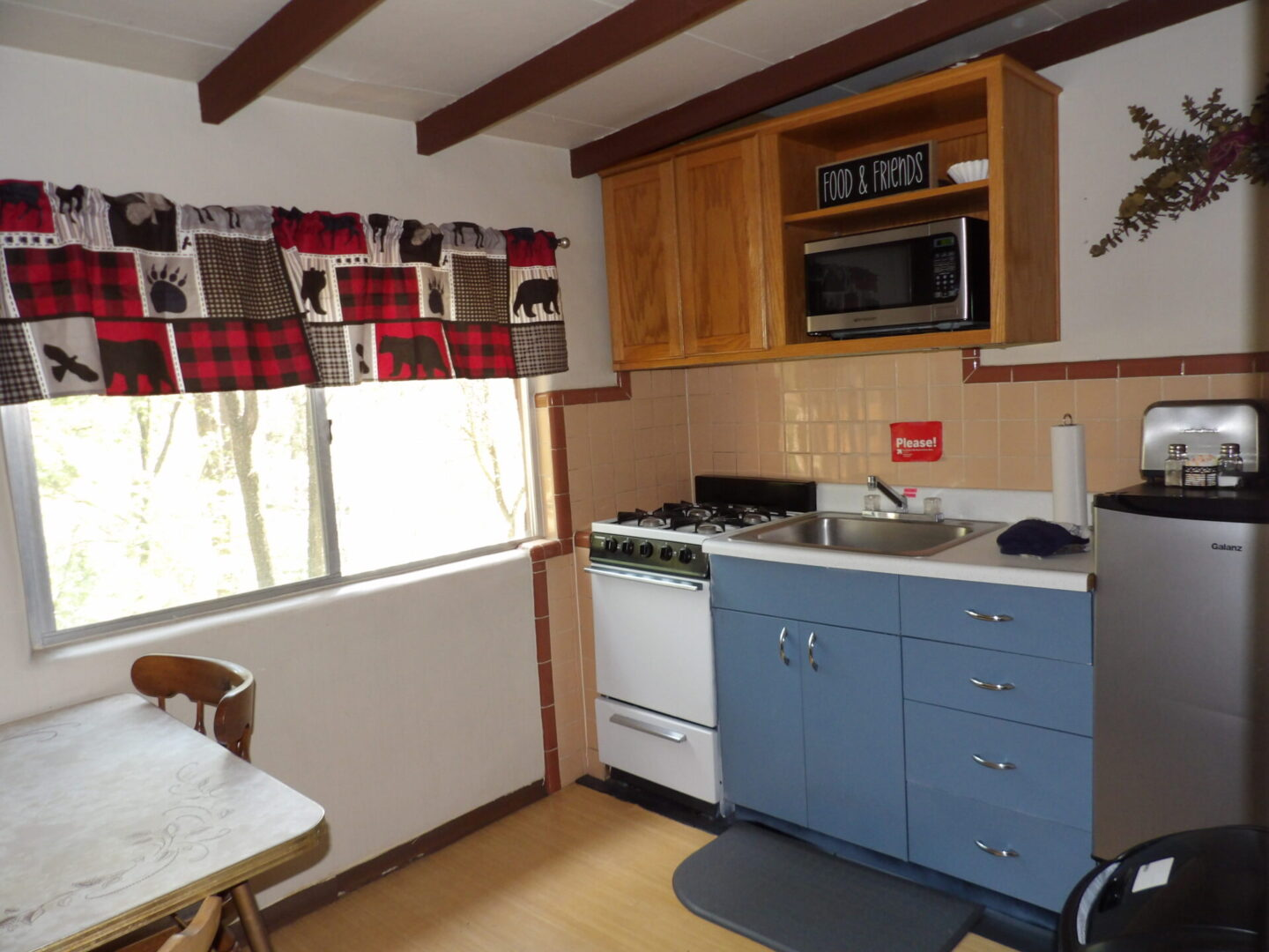kitchen with moose and bear theme