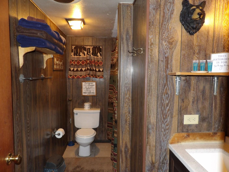 toilet with hunter's theme design