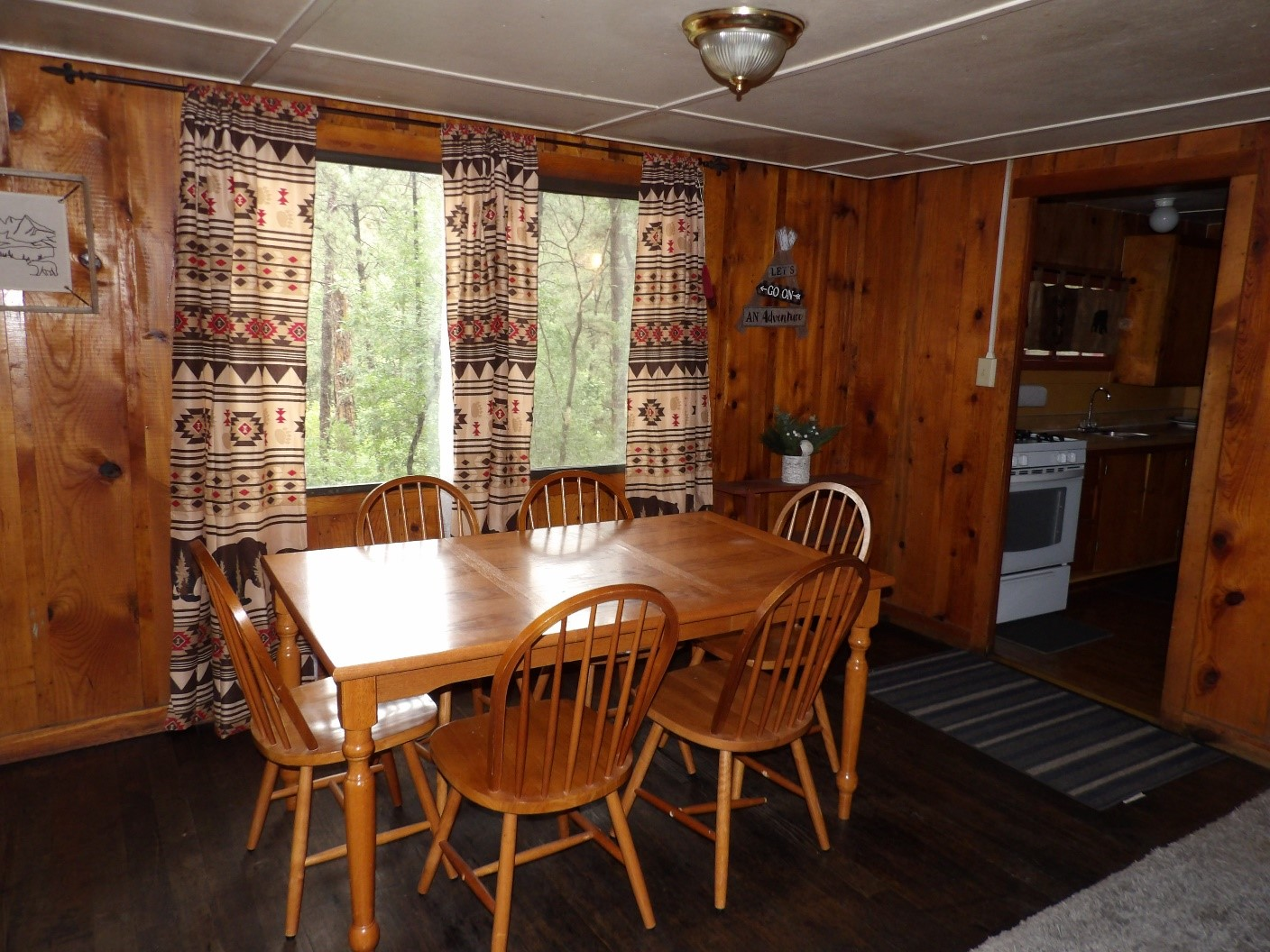 dining room with open window
